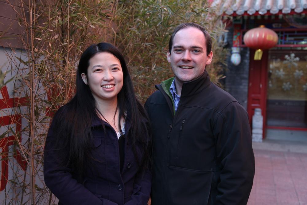 Sarah Yuan, Admissions Director; Israel Merica-Jones, Development Director