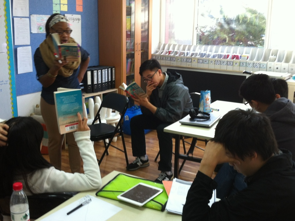 """English class reading """"The Giver"""""""