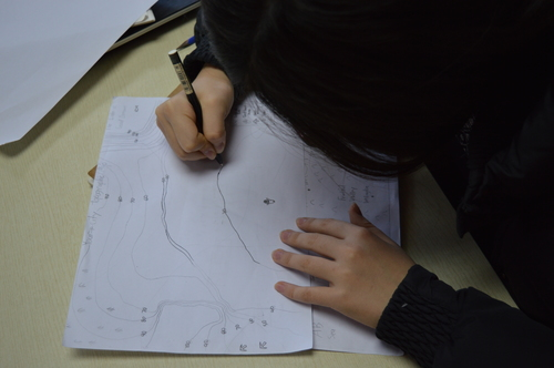 Social Studies class, Ancient Rome topographic map