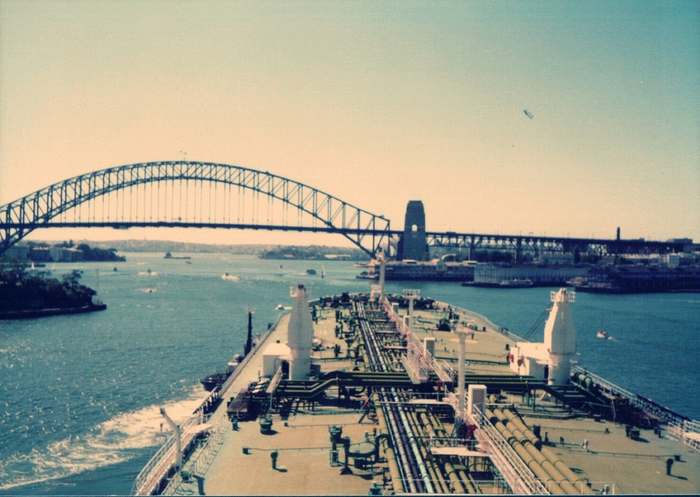 The  Nivosa  entering Sydney Harbour with me at the wheel