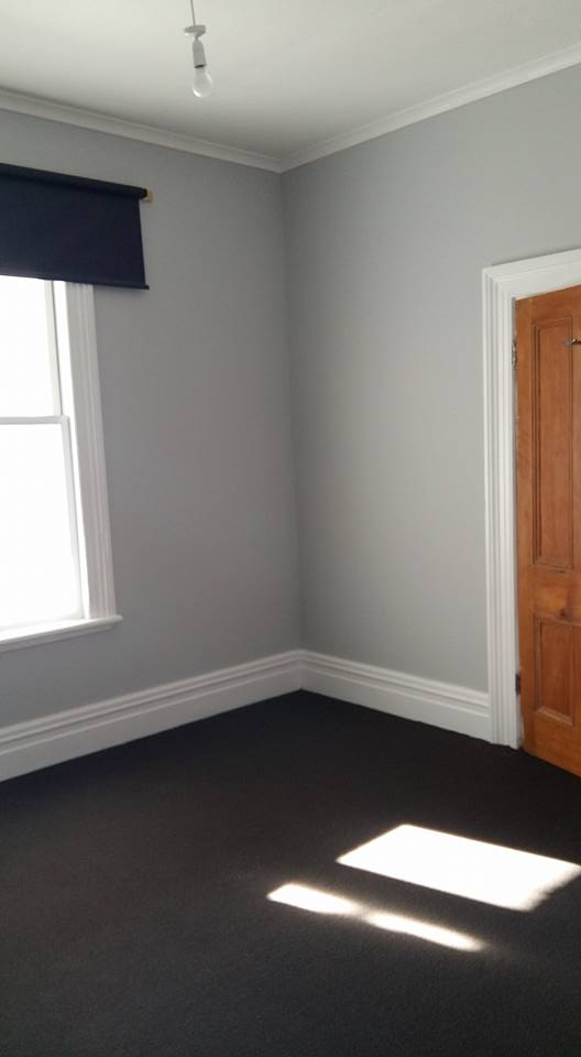 The master bedroom, carpeted, painted and finished.