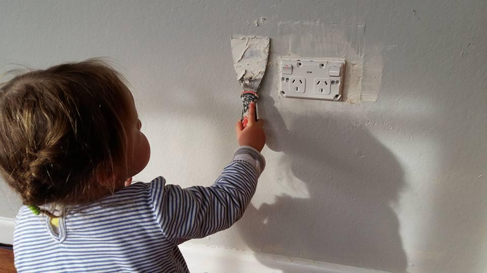 My little  child labourer , ahem,  helper