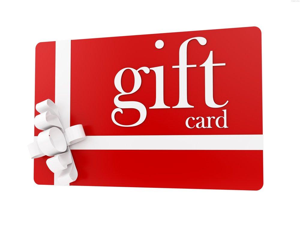 Giftcard set t.w.v 100 euro