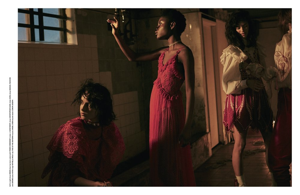 The Single Ruffle Choker in Hunger Magazine