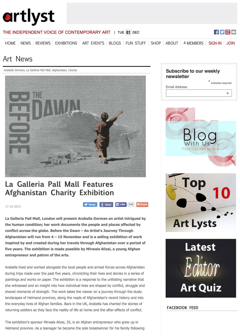 La Galleria Pall Mall Features Afghanistan Charity Exhibition.jpg