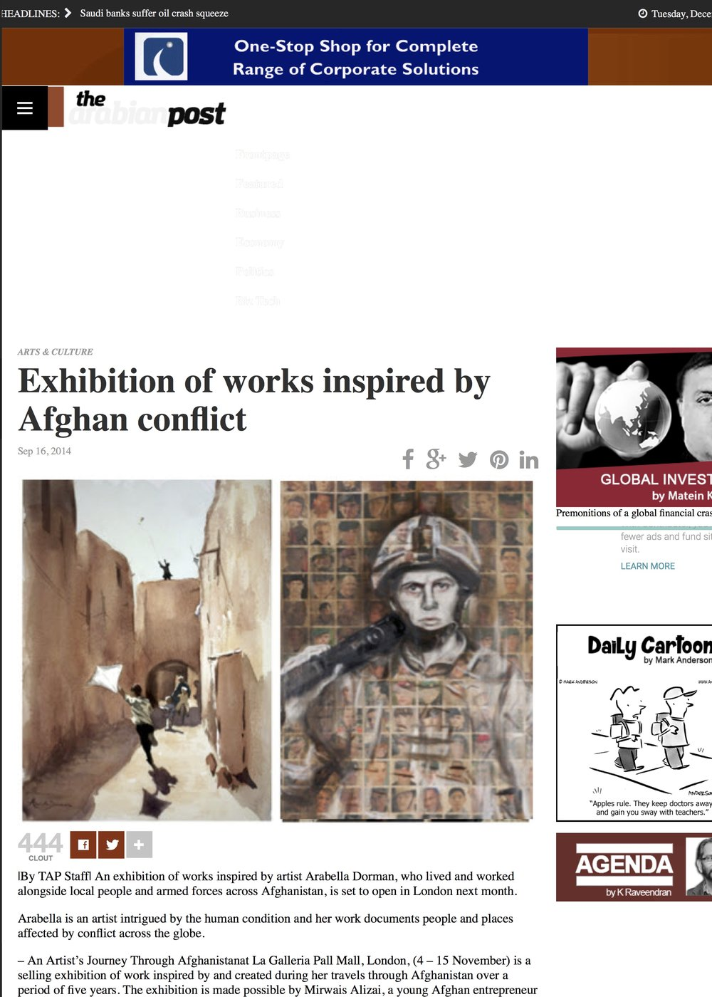 Exhibition of works inspired by Afghan conflict - The Arabian Post.jpg