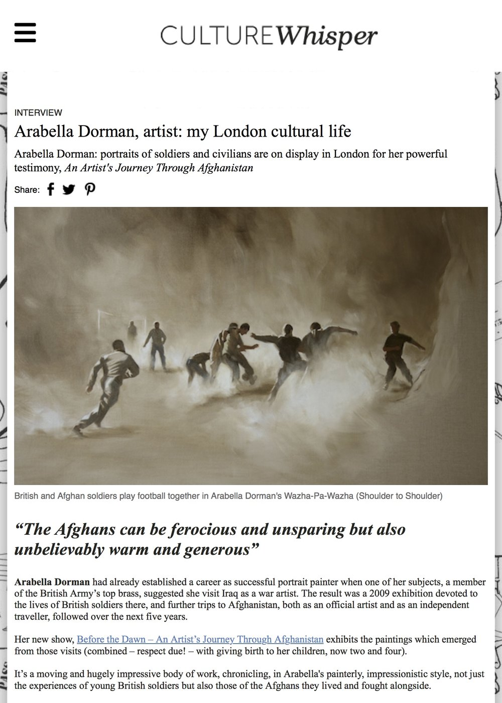 Arabella Dorman, artist: my London cultural life | Culture Whisper.jpg