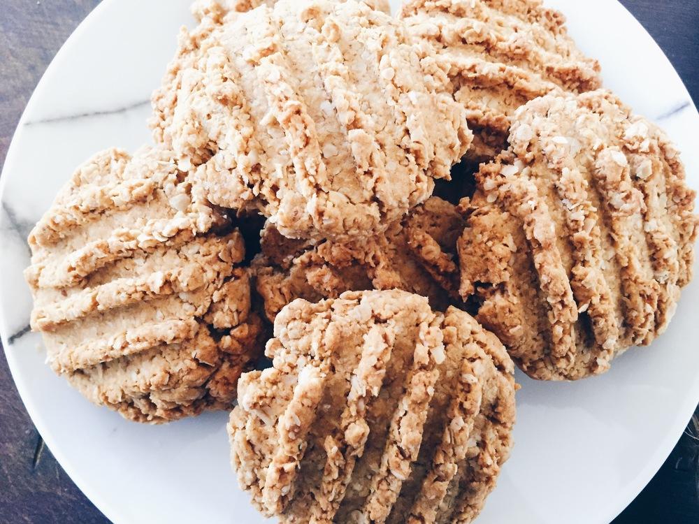 Healthy Anzac cookies recipe