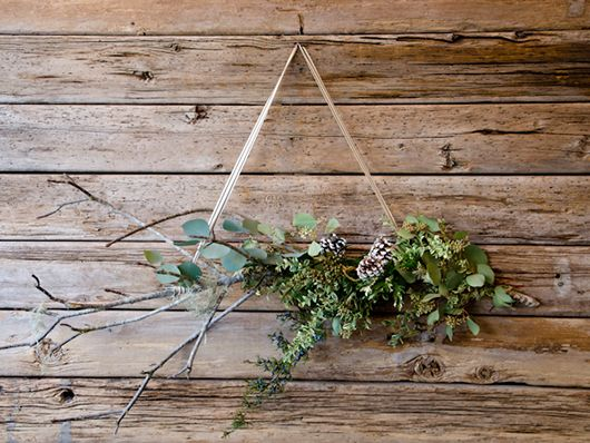 bough wedding design hanging foliage