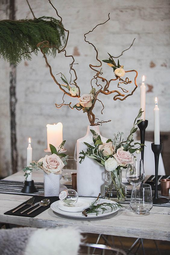 scandi nordic table design wedding