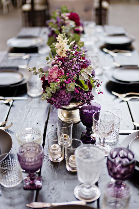 autumn wedding colour purple fall color