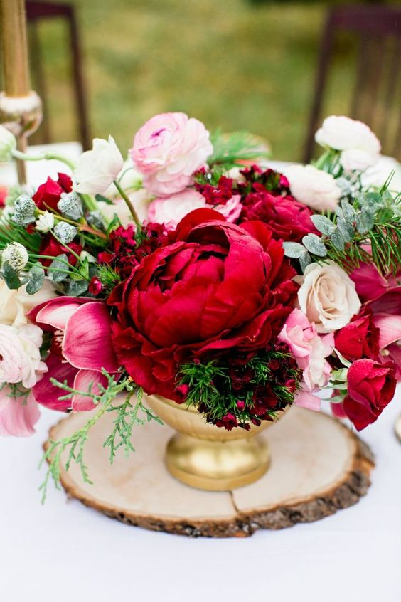 wedding colour colors fall autumn red