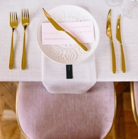millennial pink wedding