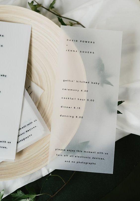 transparent wedding details