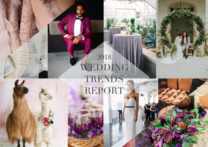WEDDING TRENDS 2018