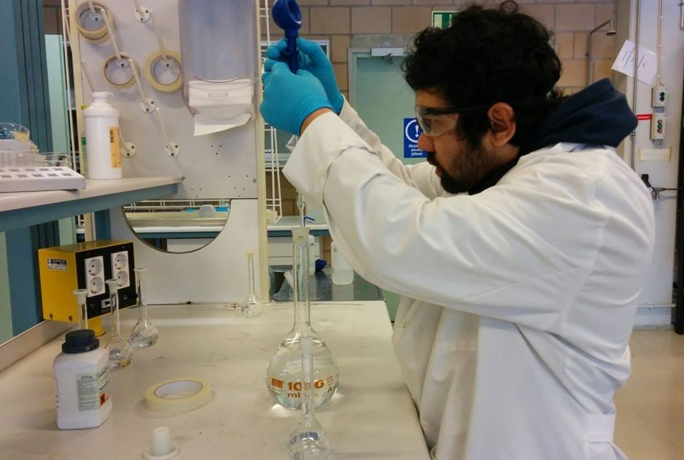 Gaurab KC.  Interned and completed his bachelors thesis on the efficacy of various activated carbons and different soaps.