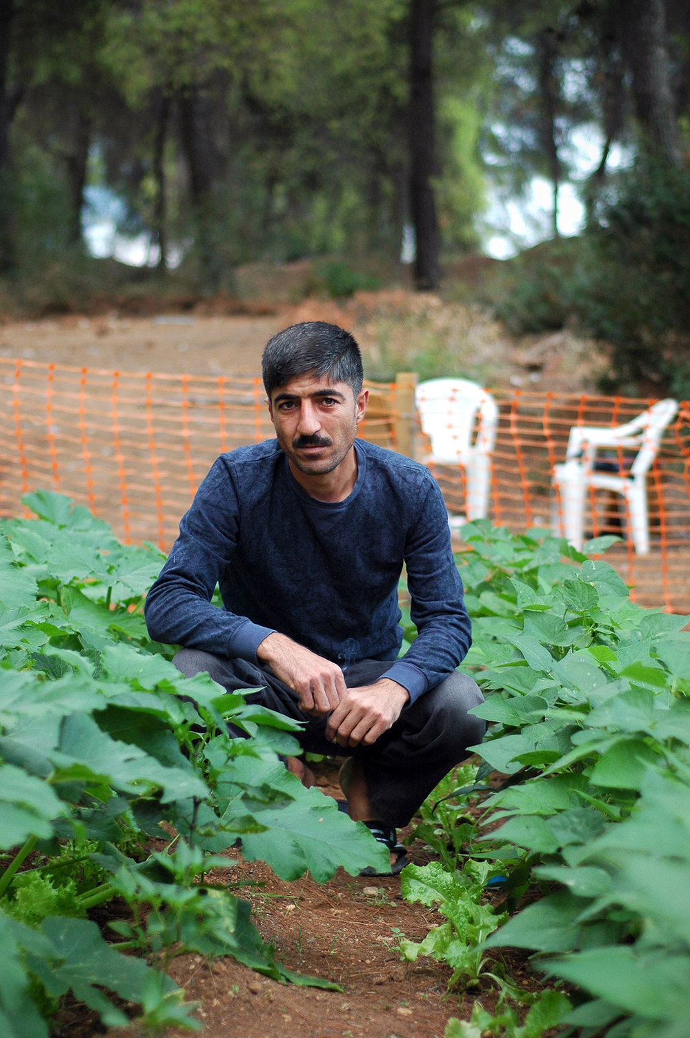 "Mohammed, 33, from Aleppo, Syria Mohammed never considered himself much of a gardener, though his family had a plot of land in Aleppo that grew beans, tomatoes, and zucchini. But after several months at Ritsona refugee camp feeding his kids the same packaged croissants and juice boxes day in and day out, he grew frustrated. ""The food the military brings is very expensive. Why not bring tomatoes and potatoes? With those, we can eat for a week,"" he says. In midsummer, Mohammed obtained seeds and dug out a small patch of the dry soil behind the camp. He planted onions, peppers, squash, and other nutritious vegetables that his family commonly ate back home. He pulls up a photo on his phone of a bowl of green beans. ""Last week we had one kilo,"" he says. Photo: Allison Voigts/Lighthouse Relief. Posted Oct 24, 2016"