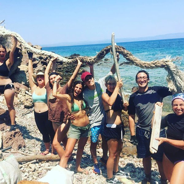 Camping beach cleaning! The best solution ever!!!!!!! So much done in two days, thank you loves!!!!! #motivated #warriors #camping #international volunteers