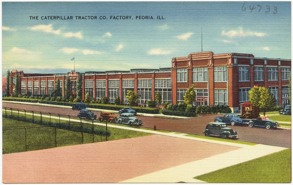 the caterpillar tractor co. factory, peoria, ill. BY boston public library cc by 2.0