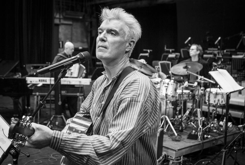 David Byrne  , Musician, Rehearsals, Ruhrtriennale, Bochum, Germany