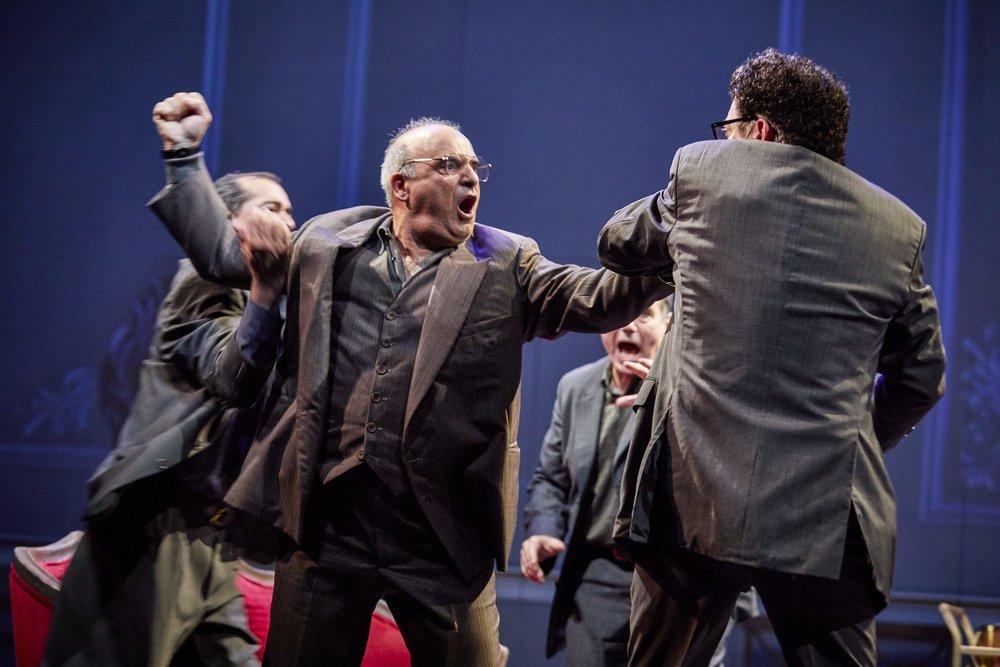 Oslo ,  National Theatre, London   Nabil Elouahabi,   Peter Polycarpou ,  Paul Herzberg ,  Thomas Arnold