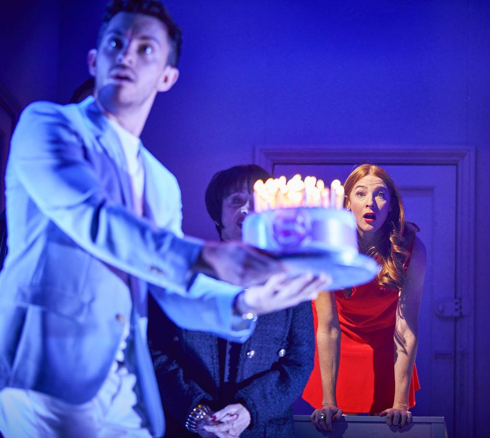 Company  ,  Gielgud Theatre, London    Jonathan Bailey ,  Patti LuPone ,  Rosalie Craig