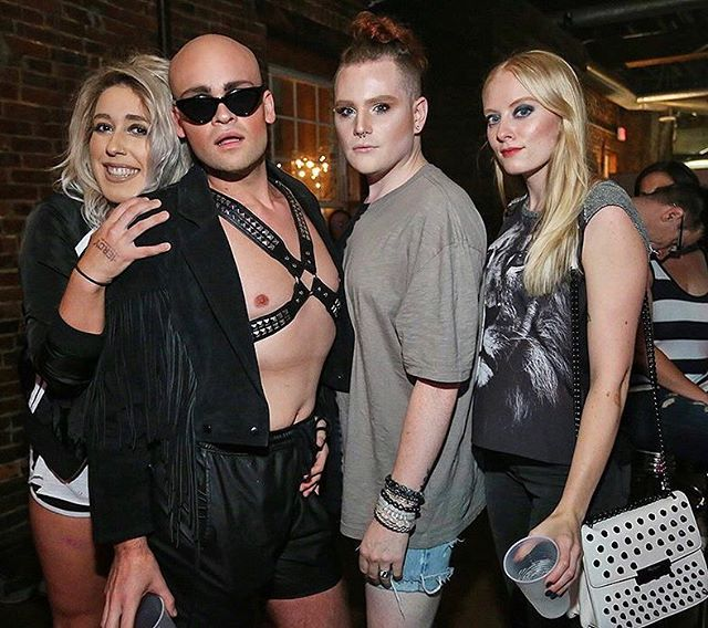 Here's me + my hot friends slaying the night. How are you guys liking Vulture? What's the hot gossip? 🖤💀🦅🥂👁⭐️🎶