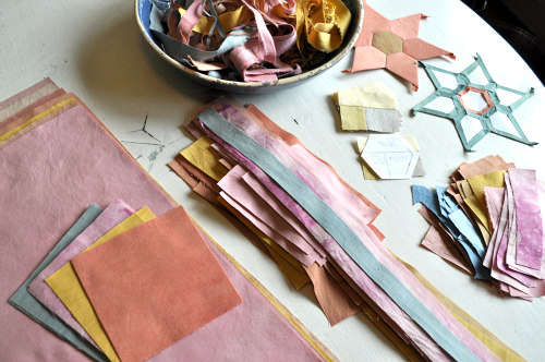 Every bit of fabric is accounted for in the cutting process.