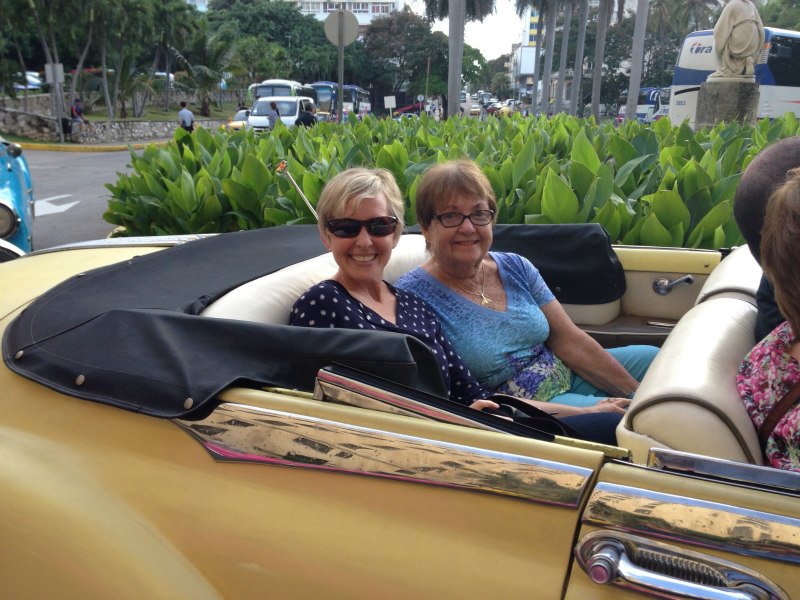 My mom and I on a tour of Embassy Row in what we were told is a '41 Plymouth.