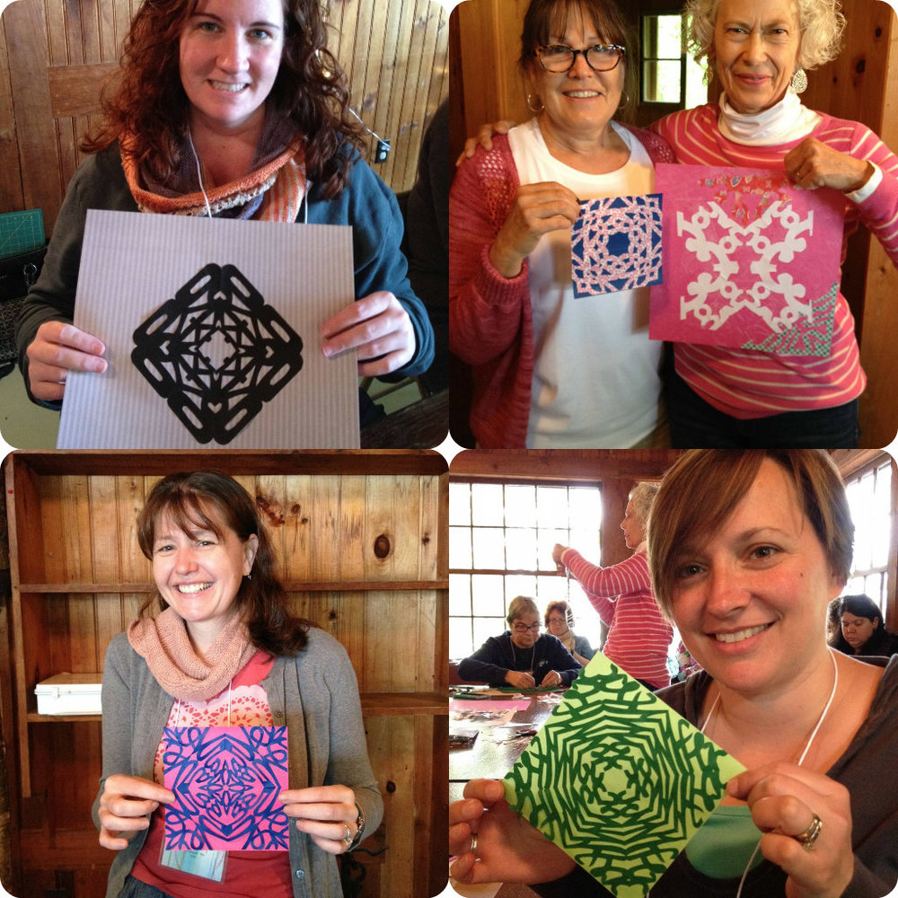 A glimpse of the joy and talent in Enchanted Paper Cutting. Shiny happy faces!