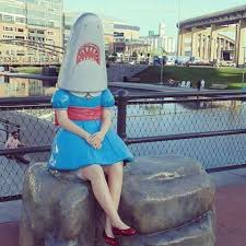 Shark Girl, downtown Buffalo, NY