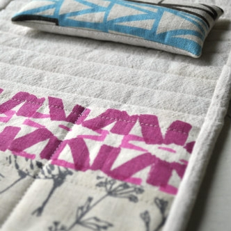 Putting the indulgent organic hemp, screen printed fabrics by Sara Parker Textiles to good use...for you!