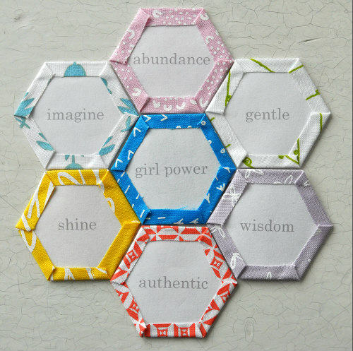 "Click the image to download my FREE ""Girl Power"" Hexagon page from your desktop computer! You'll get 28 - 1"" hexis each with an inspiring word celebrating what it is to be a girl! Read this blog post for more information about printing this PDF.  #girlpowerhexis"