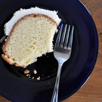 Coconut Pound Cake with Coconut Cream Cheese Frosting