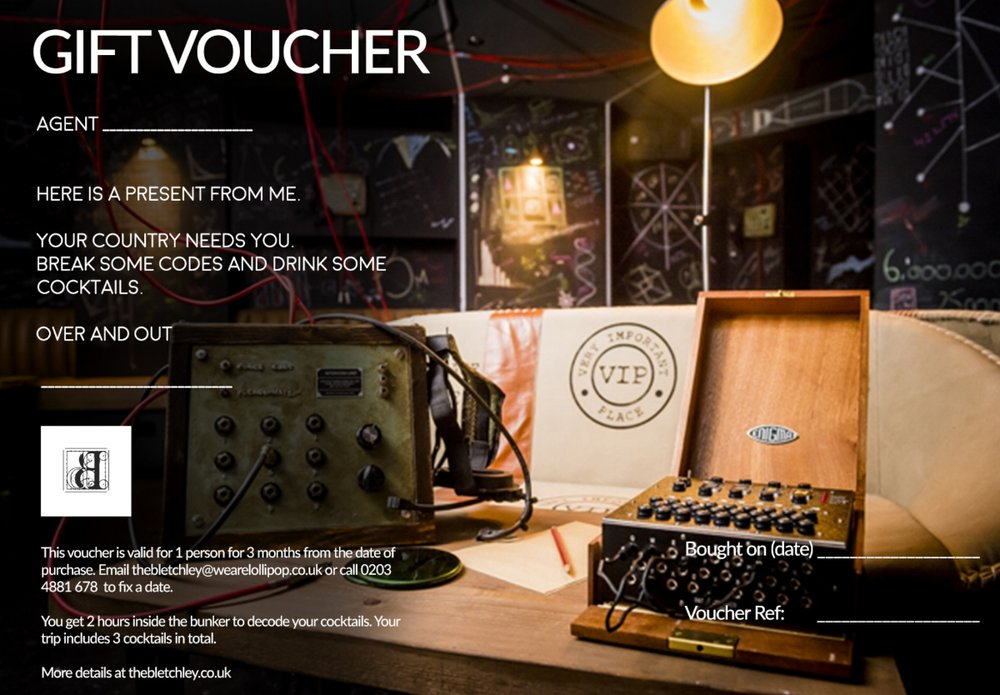 THE BLETCHLEY - A vintage personalised cocktail experience which they will never forgetNow available to purchase