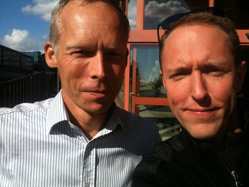 Johan Rockström and Mattias Klum.