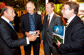 Israel Klabin, Johan Rockström, Mattias Klum and Achim Steiner during book launch in Rio de Janeiro.