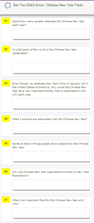 bet you didnt know chinese new year facts answer key - Chinese New Year Superstitions