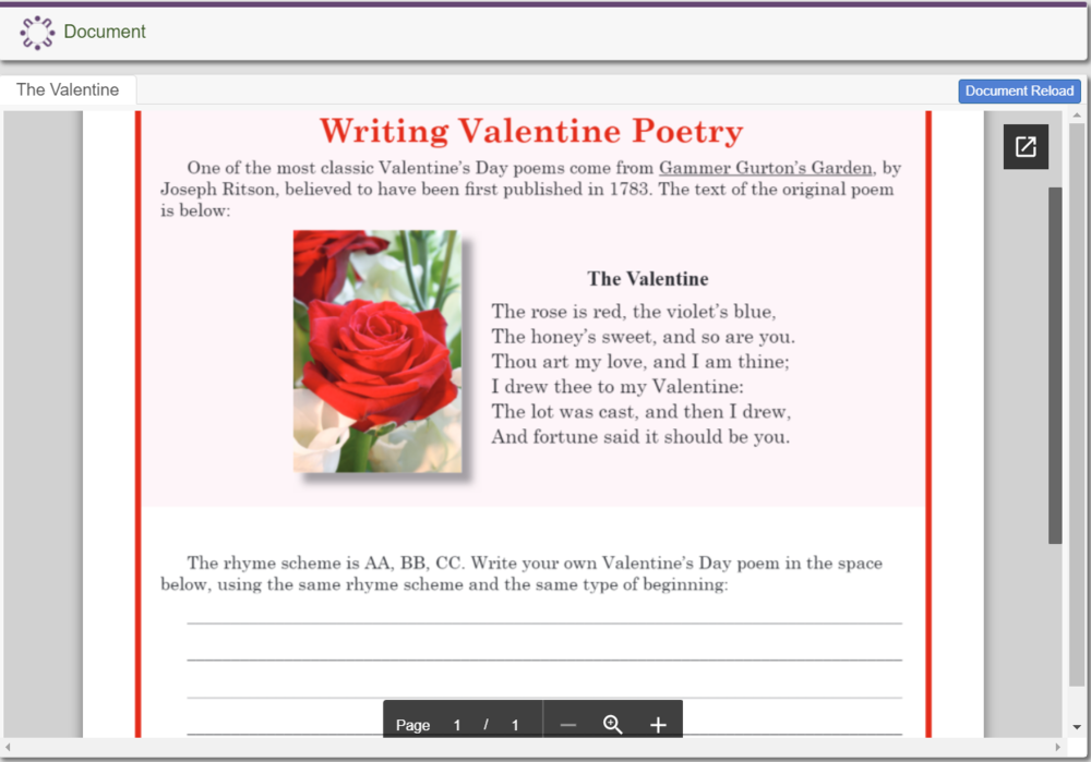 Writing Valentine Poetry