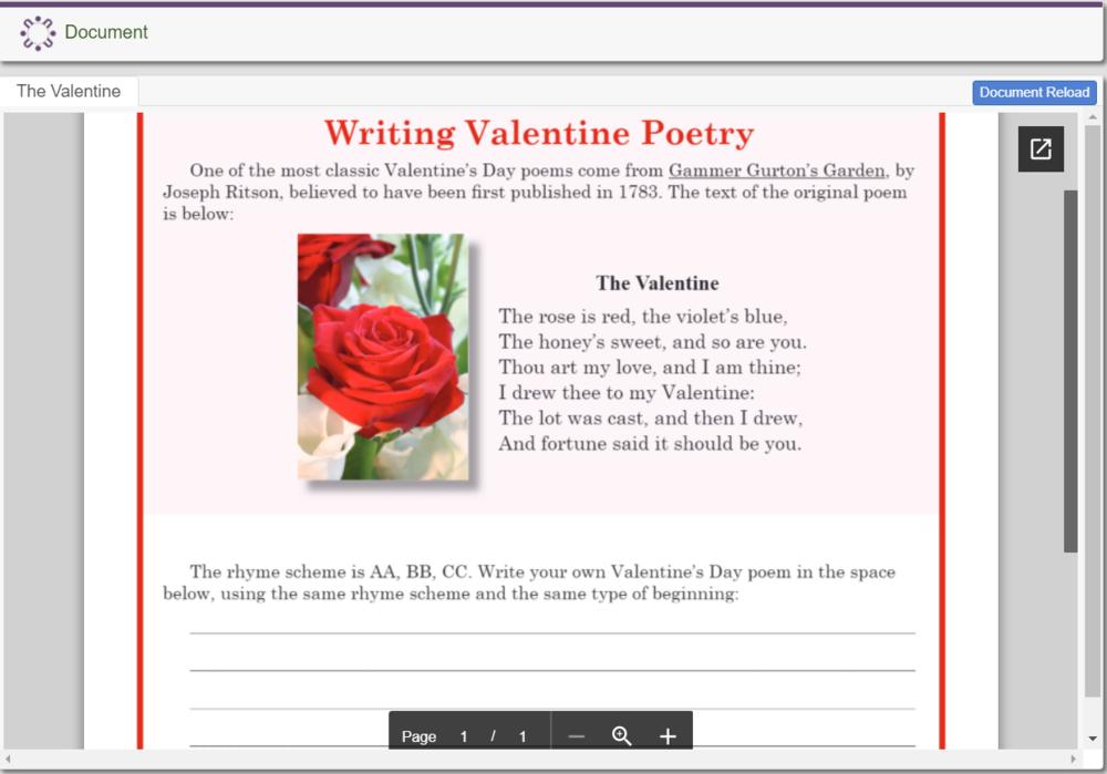 Writing Valentine Poetry