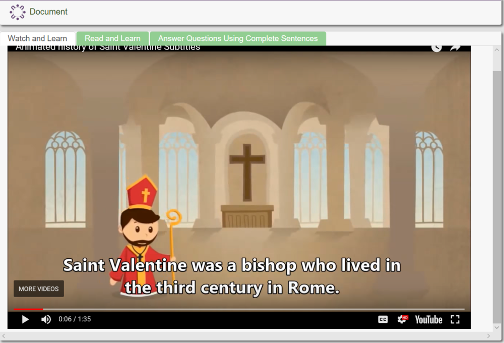 The Story of St. Valentine