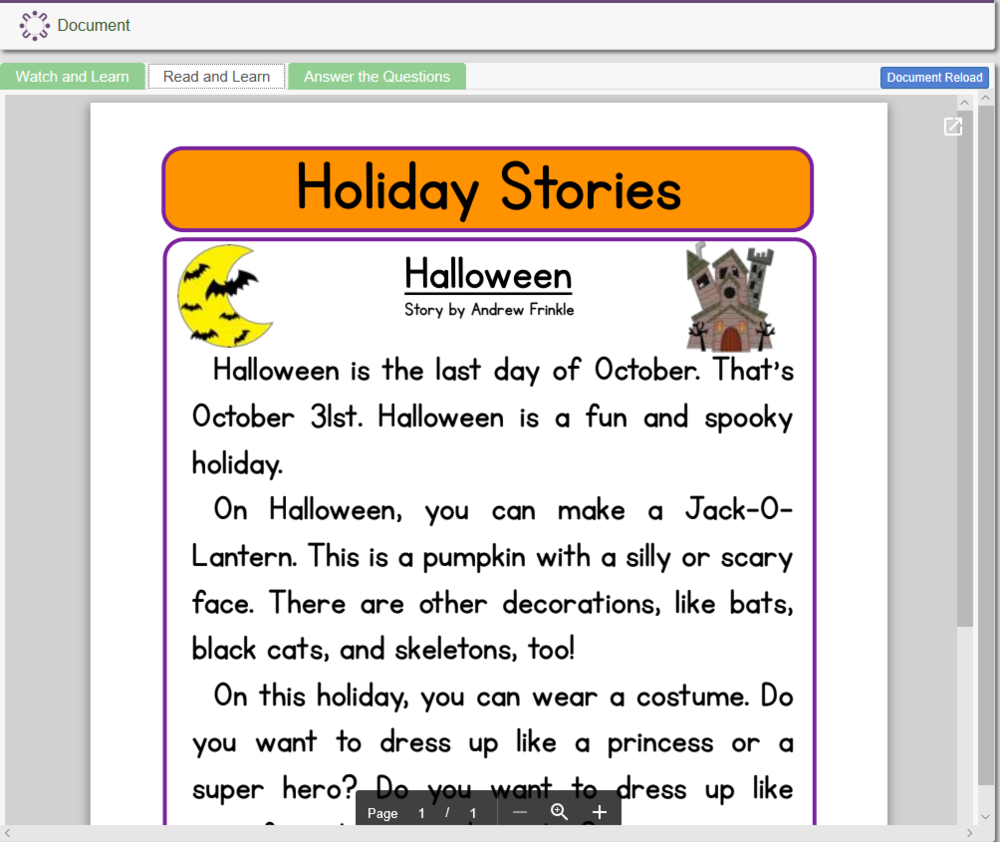 Holiday Stories: Halloween