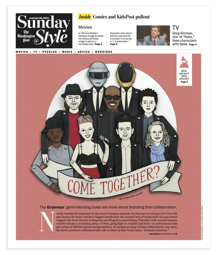 Illustration for  The Washington Post Sunday Style  cover.
