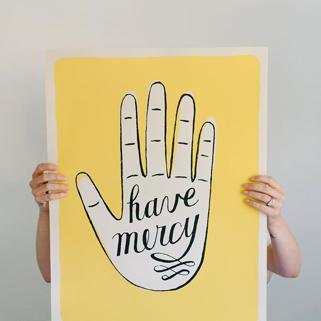 I designed this poster seven years ago, but the sentiment keeps feeling more and more necessary. Back in stock in my Etsy shop after a brief hiatus!