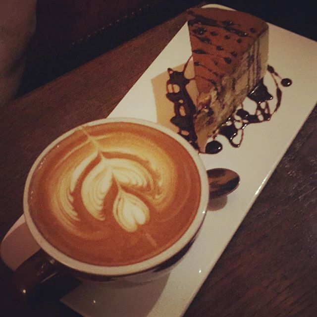 Cappuccino and tiramisu  Yes please😍 #coffeetime #desserts #fabulous #italiansweets