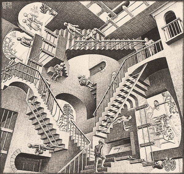 Relativity by M.C.Escher