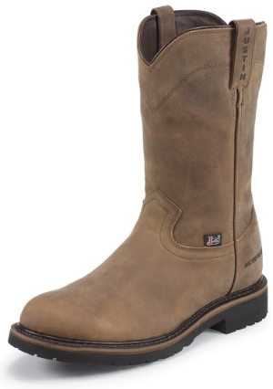 Men's Justin Pull-On Waterproof Safety Toe Work Boot