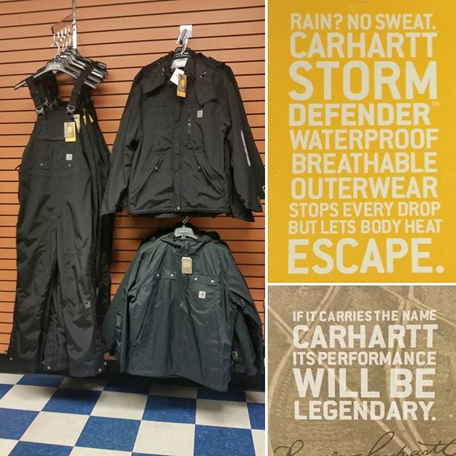 Wishing everyone a safe and dry weekend! #carhartt #raindefender #deyongsboots #workhard #rainyday