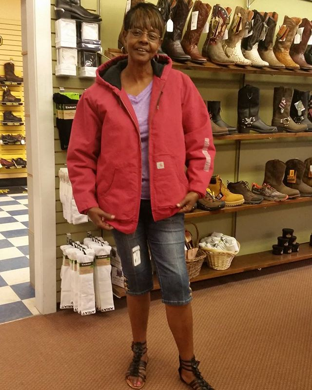 Customers are in quite a hurry due to the bad weather heading our way. We have plenty of Carhartt jackets and rain jackets to help you make it through.  #carhartt #deyongsboots #raingear #rainyday #womensstyle