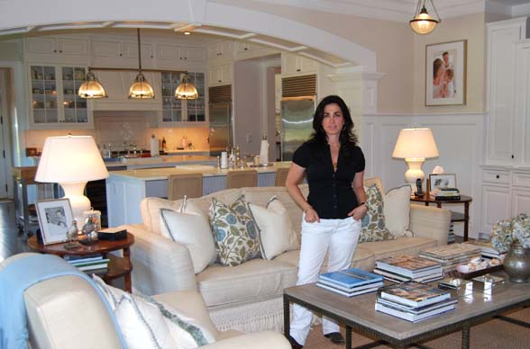 Interior Designer Hillary Wallace Is Combining Business With Pleasure This  Summer Enjoying Her Southampton Village Summer Rental While She Puts The ...